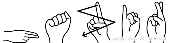 Hazir im Fingeralphabet der Deutschen Gebärdensprache