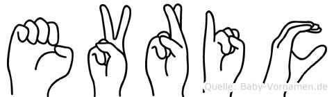 Evric im Fingeralphabet der Deutschen Gebärdensprache