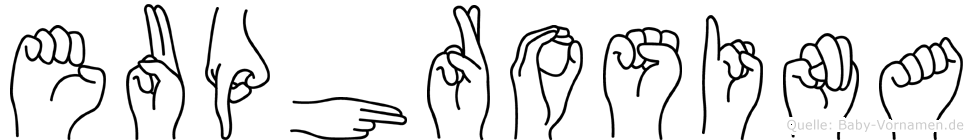Euphrosina in Fingersprache für Gehörlose