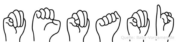 Menami in Fingersprache für Gehörlose