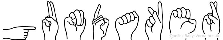 Gundaker im Fingeralphabet der Deutschen Gebärdensprache