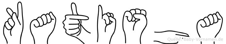 Katisha im Fingeralphabet der Deutschen Gebärdensprache