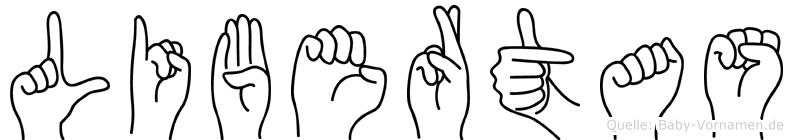 Libertas im Fingeralphabet der Deutschen Gebärdensprache