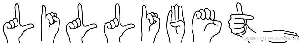 Lillibeth in Fingersprache für Gehörlose