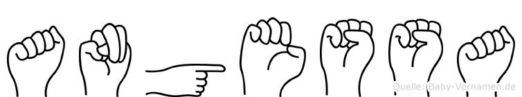 Angessa im Fingeralphabet der Deutschen Gebärdensprache