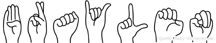 Braylen in Fingersprache für Gehörlose