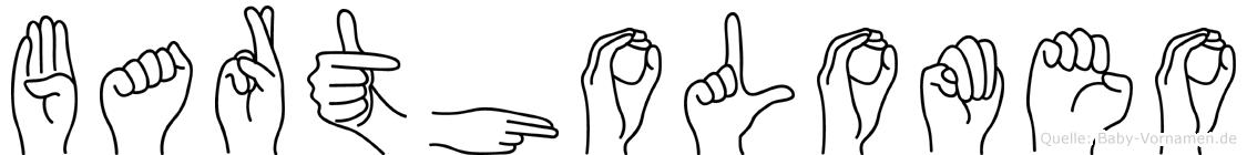 Bartholomeo in Fingersprache für Gehörlose