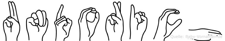 Undorich im Fingeralphabet der Deutschen Gebärdensprache