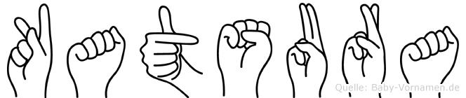 Katsura im Fingeralphabet der Deutschen Gebärdensprache