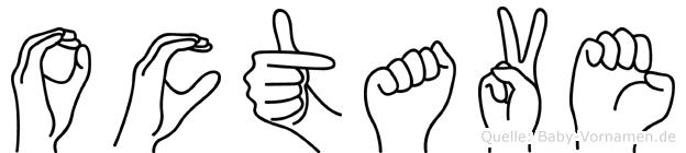 Octave im Fingeralphabet der Deutschen Gebärdensprache