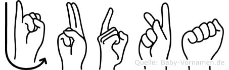 Judka in Fingersprache für Gehörlose