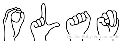 Olan im Fingeralphabet der Deutschen Gebärdensprache