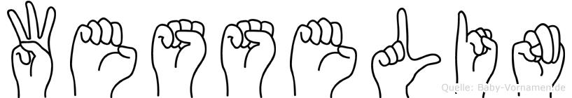 Wesselin im Fingeralphabet der Deutschen Gebärdensprache