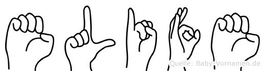 Elife in Fingersprache für Gehörlose