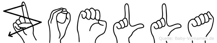 Zoella im Fingeralphabet der Deutschen Gebärdensprache