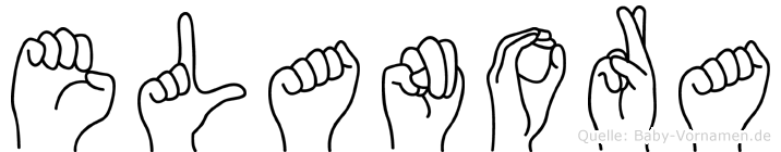 Elanora im Fingeralphabet der Deutschen Gebärdensprache