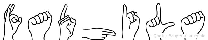 Fadhila in Fingersprache für Gehörlose