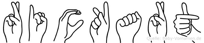 Rickart in Fingersprache für Gehörlose