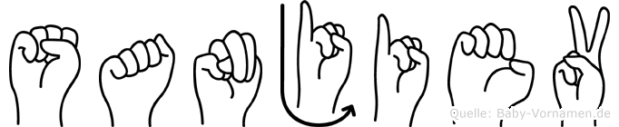 Sanjiev in Fingersprache für Gehörlose