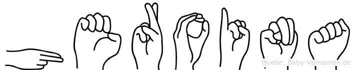 Heroina im Fingeralphabet der Deutschen Gebärdensprache