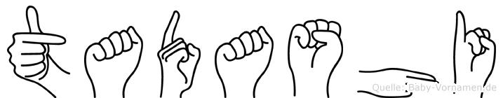 Tadashi im Fingeralphabet der Deutschen Gebärdensprache