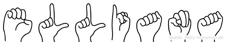 Elliana im Fingeralphabet der Deutschen Gebärdensprache