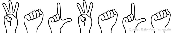 Walwala im Fingeralphabet der Deutschen Gebärdensprache