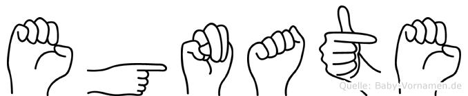 Egnate im Fingeralphabet der Deutschen Gebärdensprache