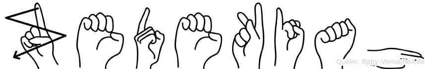 Zedekiah in Fingersprache für Gehörlose