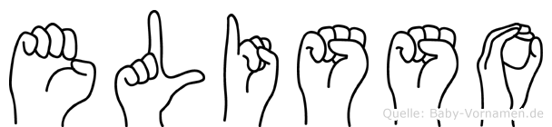 Elisso im Fingeralphabet der Deutschen Gebärdensprache
