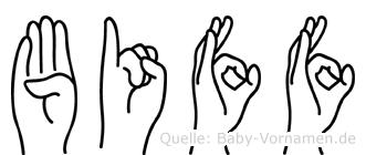 Biff in Fingersprache für Gehörlose