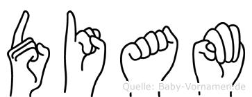 Diam in Fingersprache für Gehörlose
