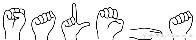 Saleha im Fingeralphabet der Deutschen Gebärdensprache