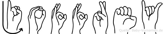 Joffrey im Fingeralphabet der Deutschen Gebärdensprache