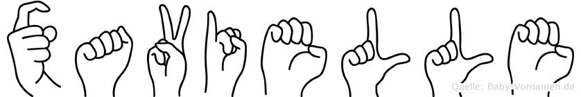 Xavielle in Fingersprache für Gehörlose