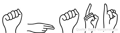 Ahadi im Fingeralphabet der Deutschen Gebärdensprache