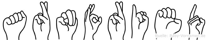 Arnfried in Fingersprache für Gehörlose