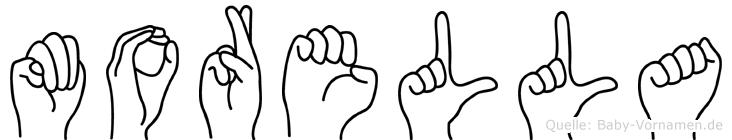 Morella im Fingeralphabet der Deutschen Gebärdensprache