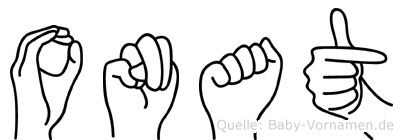 Onat im Fingeralphabet der Deutschen Gebärdensprache