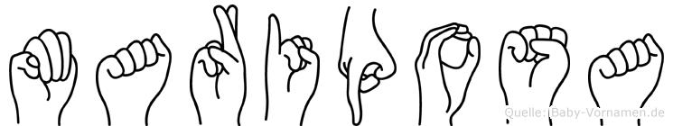 Mariposa in Fingersprache für Gehörlose
