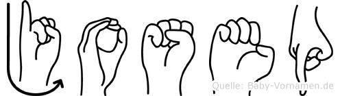 Josep in Fingersprache für Gehörlose
