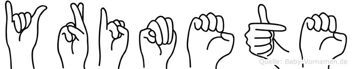 Yrimete in Fingersprache für Gehörlose