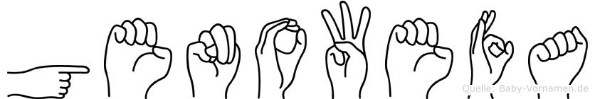 Genowefa im Fingeralphabet der Deutschen Gebärdensprache