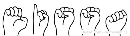 Eissa im Fingeralphabet der Deutschen Gebärdensprache