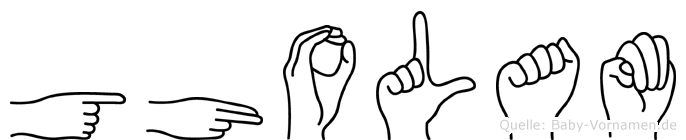 Gholam in Fingersprache für Gehörlose