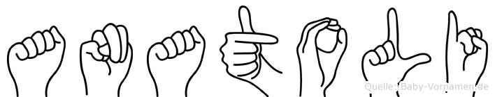 Anatoli in Fingersprache für Gehörlose