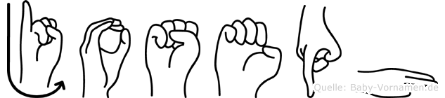 Joseph im Fingeralphabet der Deutschen Gebärdensprache