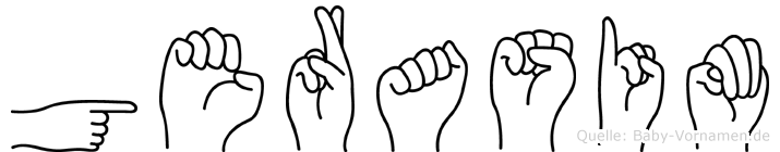 Gerasim in Fingersprache für Gehörlose