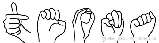 Teona im Fingeralphabet der Deutschen Gebärdensprache