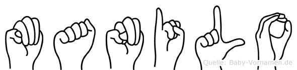 Manilo in Fingersprache für Gehörlose